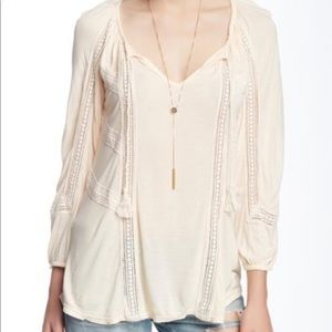 COPY - Lucky Brand Soft Pink Peasant Blouse